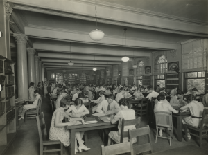 Peabody Library Reading Room circa 1920