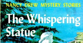 detail of book title from Nancy Drew series