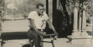 James Lawson on a Bicycle